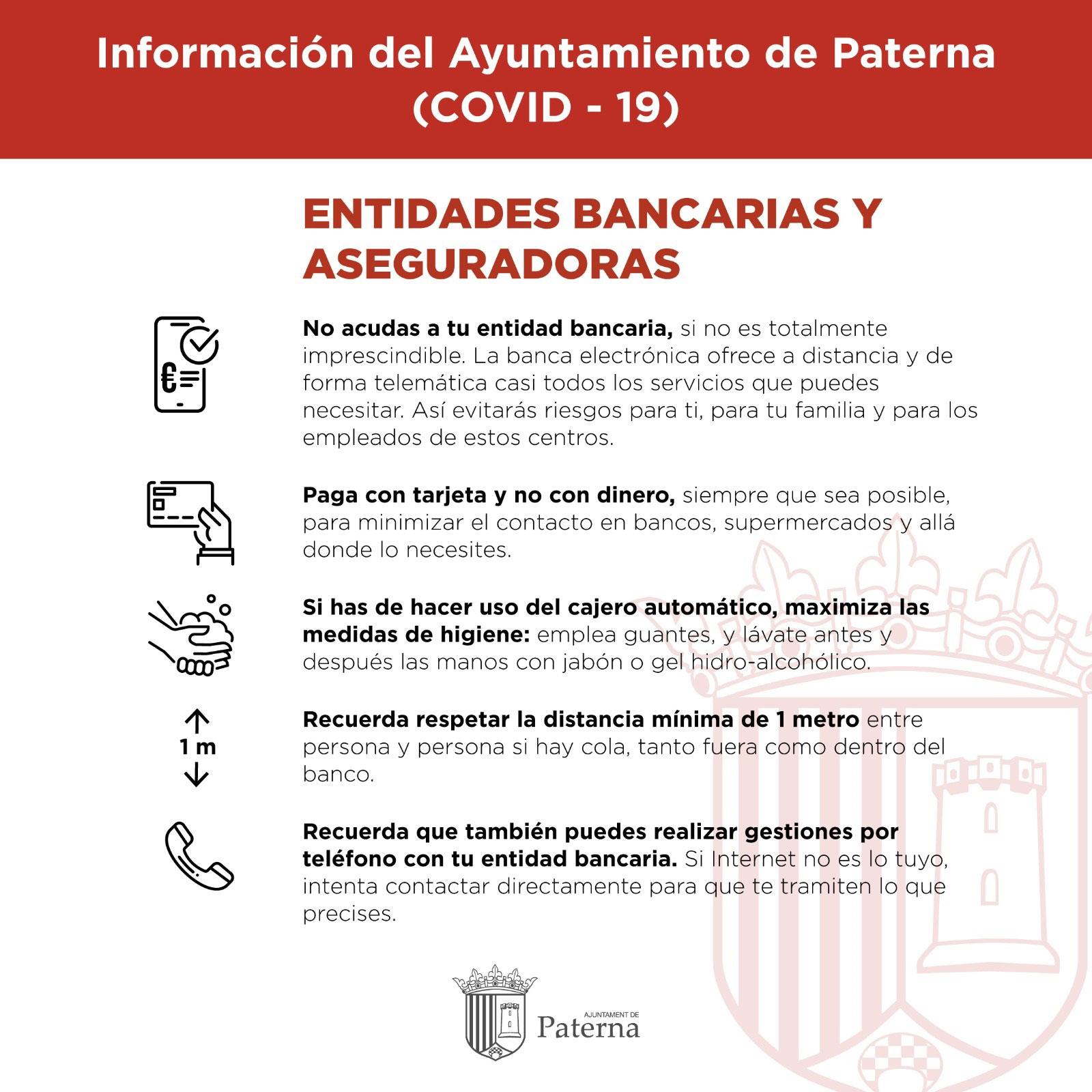 Información del Ayuntamiento de Paterna - Entidades Bancarias y Aseguradoras