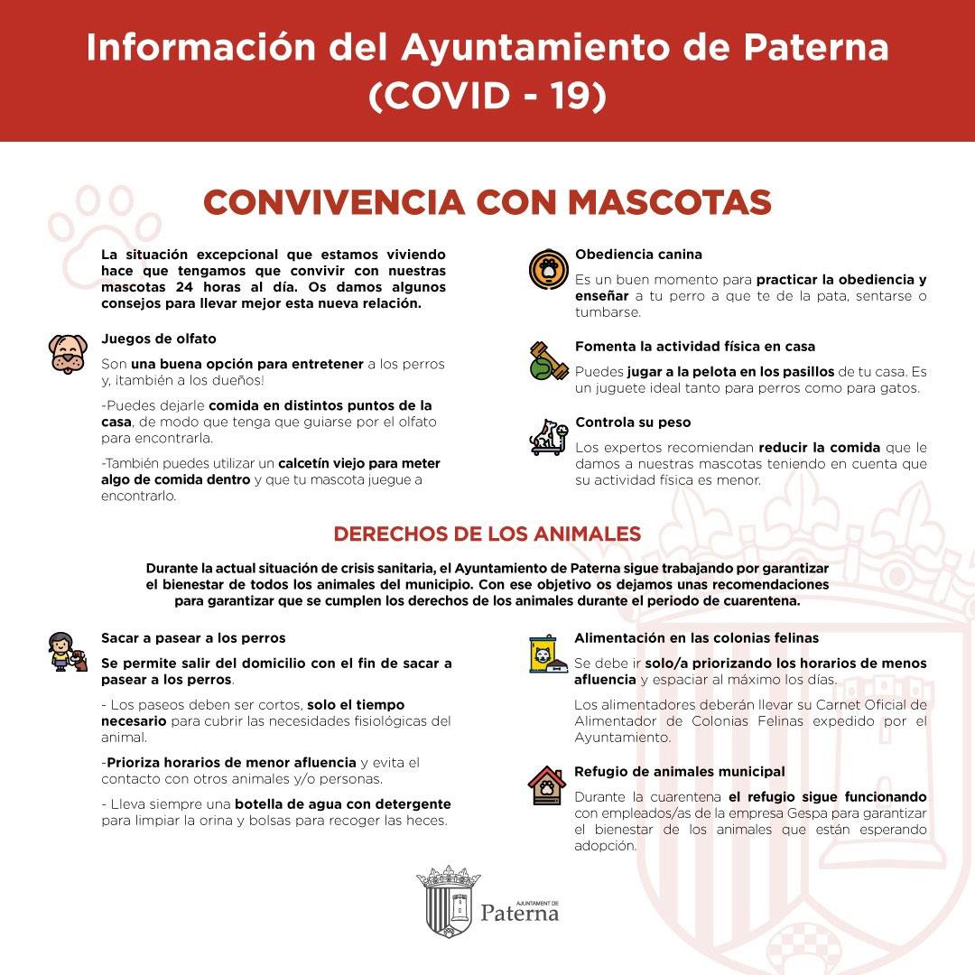 Información del Ayuntamiento de Paterna - Convivencia mascotas