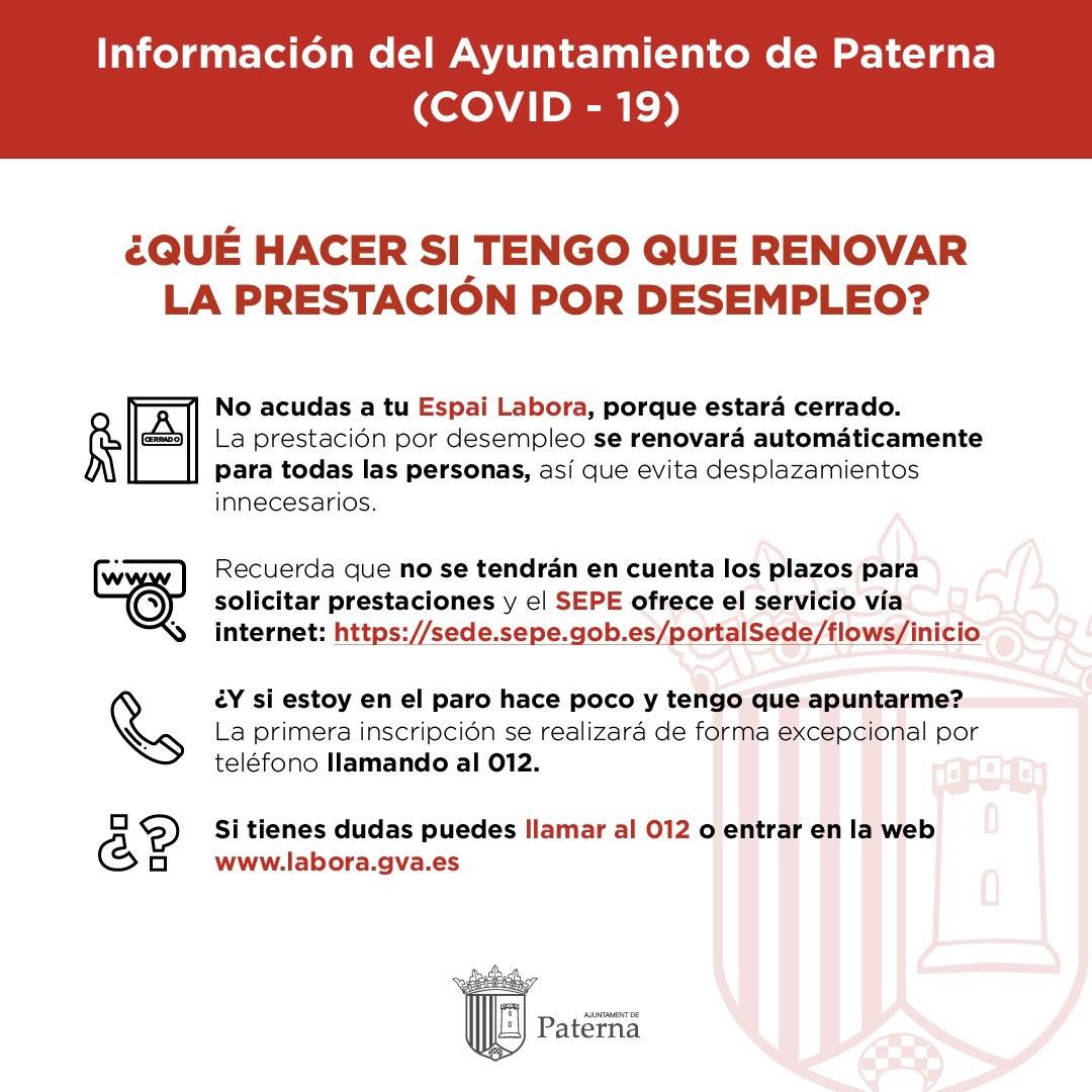 Información del Ayuntamiento de Paterna - Desempleo