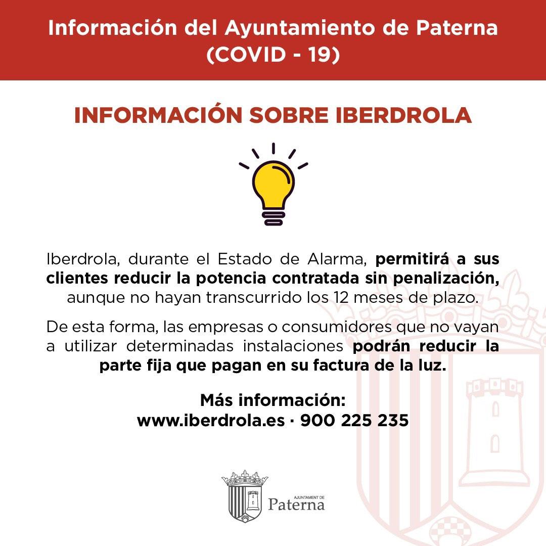Información del Ayuntamiento de Paterna - Iberdrola