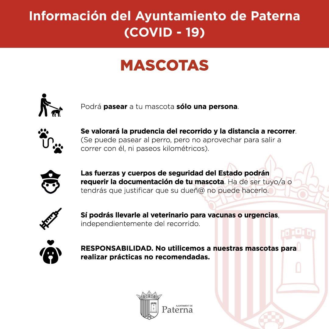 Información del Ayuntamiento de Paterna - Mascotas