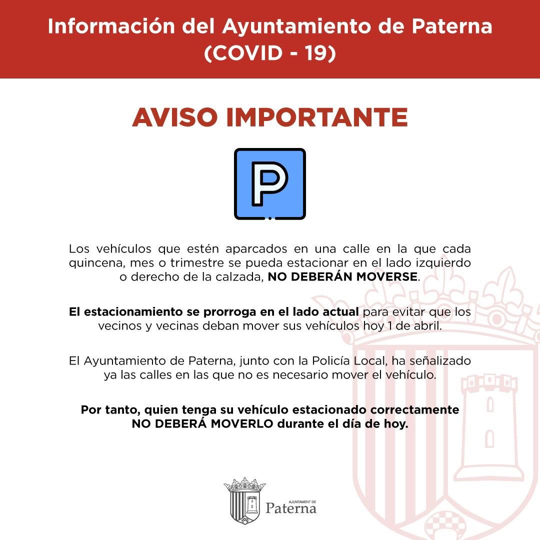Información del Ayuntamiento de Paterna - Estacionamiento de vehículos