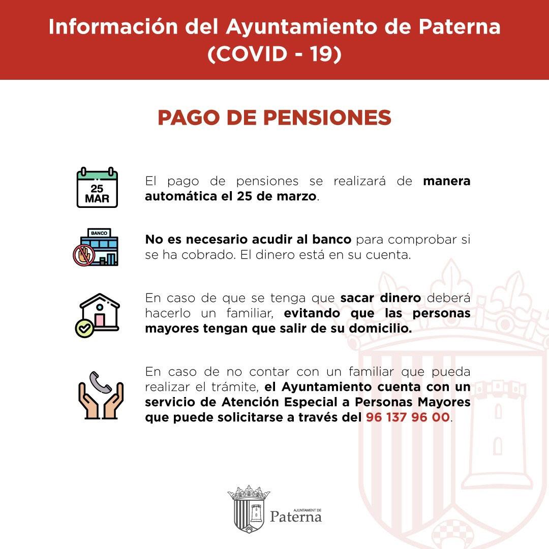 Información del Ayuntamiento de Paterna - Pago de pensiones