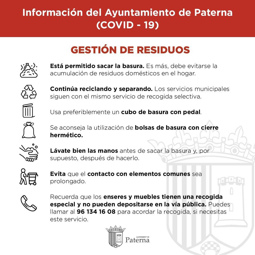 Información del Ayuntamiento de Paterna - Gestión de residuos