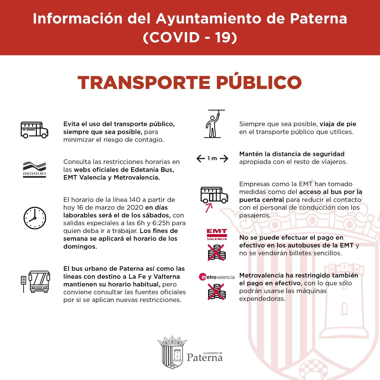 Información del Ayuntamiento de Paterna - Transporte público