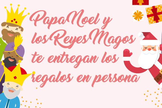 Fotos Papa Noel Reyes Magos.Papa Noel Y Los Reyes Magos Llevaran Los Regalos A Las Casas